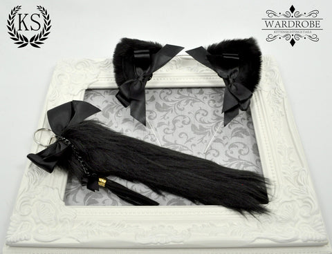 Black Princess Ear and Tail Set