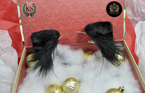 Black Bowless Pixie Princess Ears