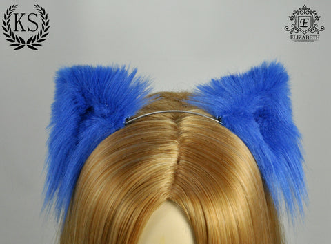 Blue Elizabeth Ears
