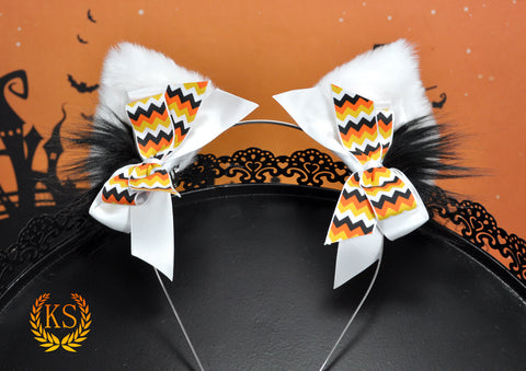 Candy Corn Chevron Pixie ScreamKiwi Ears