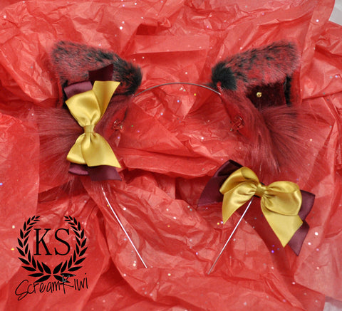 Red Black Gold Magnetic ScreamKiwi Ears