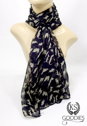 Black Kitten Scarf