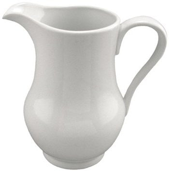 White Curvy Pitcher - 2 Qt