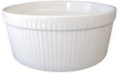 White Souffle Dish - Medium