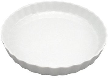 "White 10"" Quiche Baker"