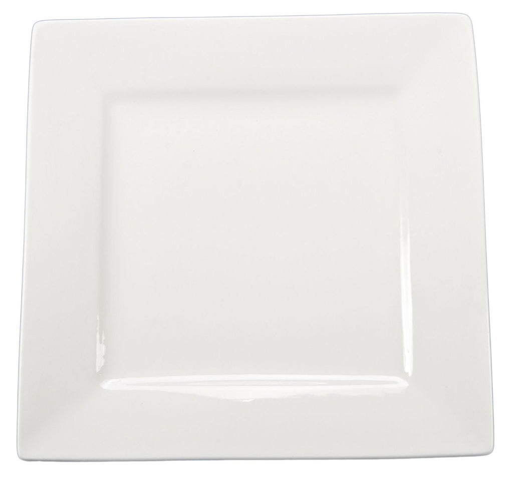 White Square Salad Plate