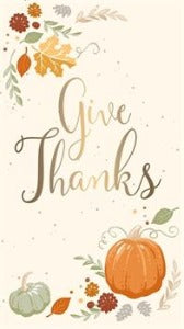 Metallic Paper Guest Towel, Give Thanks