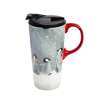 Ceramic Travel Mug, Penguins