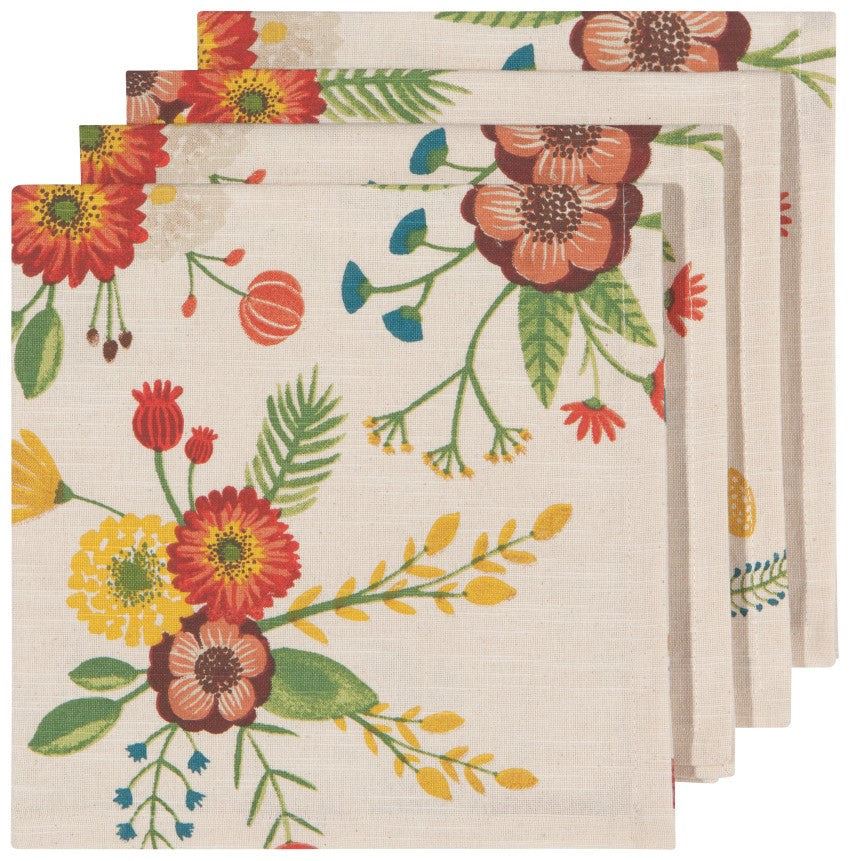 Goldenbloom Print Napkins set of 4