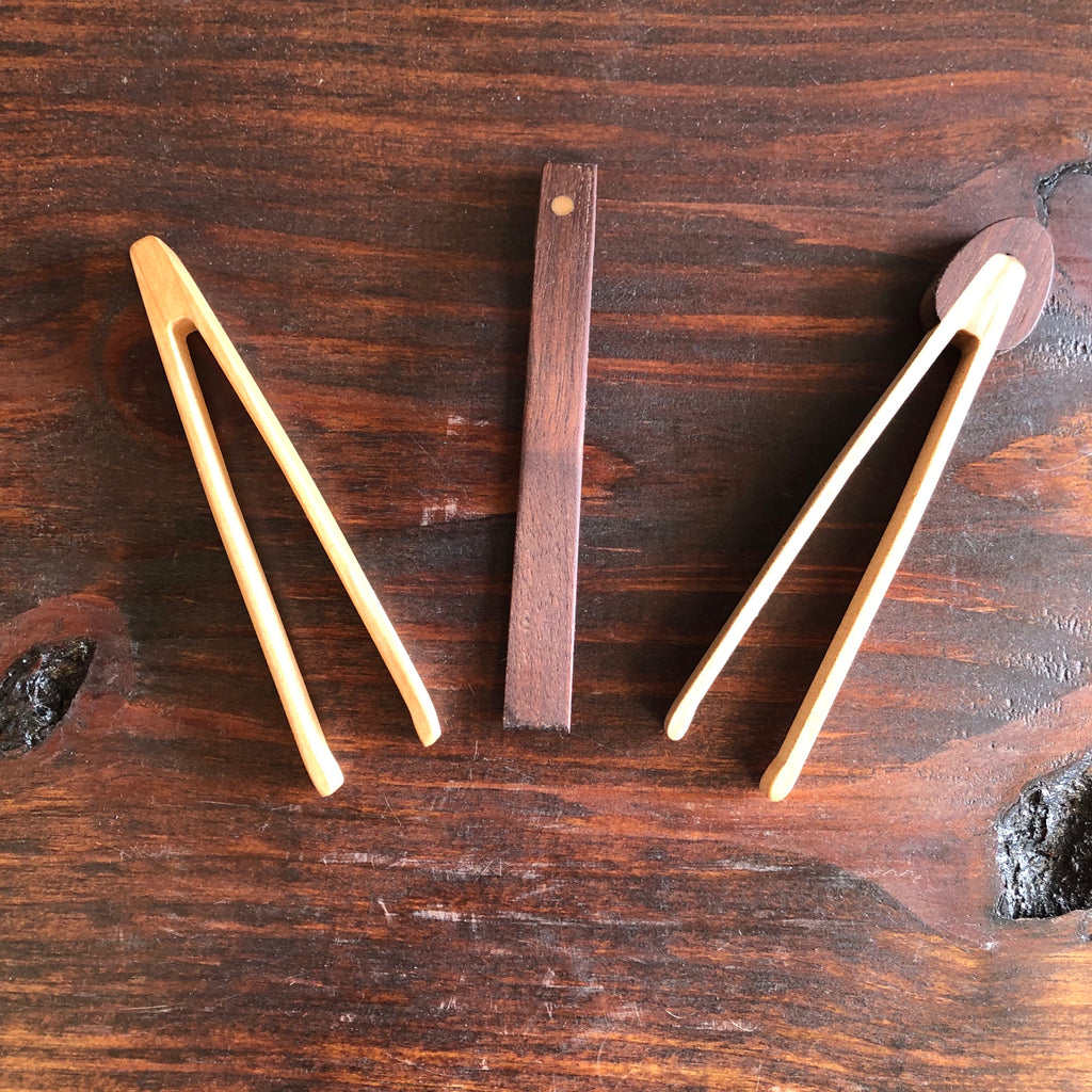 Small Wooden Tongs