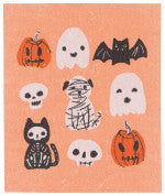 Swedish Dish Cloth Happy Howloween