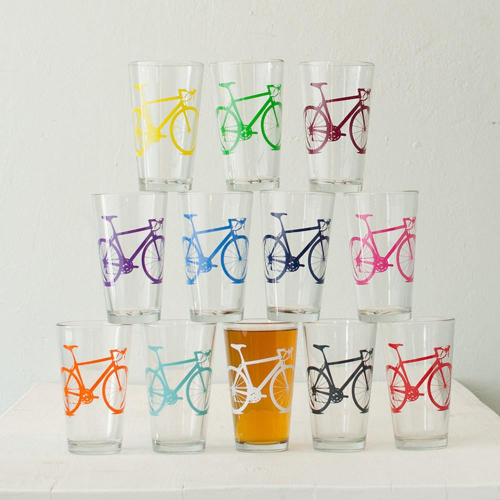 Bike Party Pint Glasses