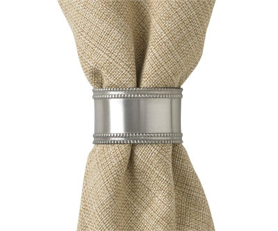 Pewter Beaded Napkin Ring