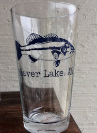 Beaver Lake, AR - Gone Fishin' Pint Glass