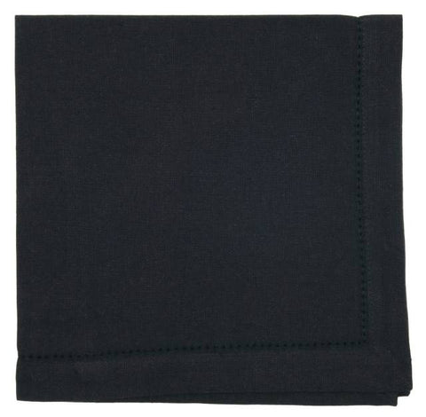 Black Hemstitch Napkins