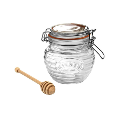 Clip Top Honey Pot & Dipper