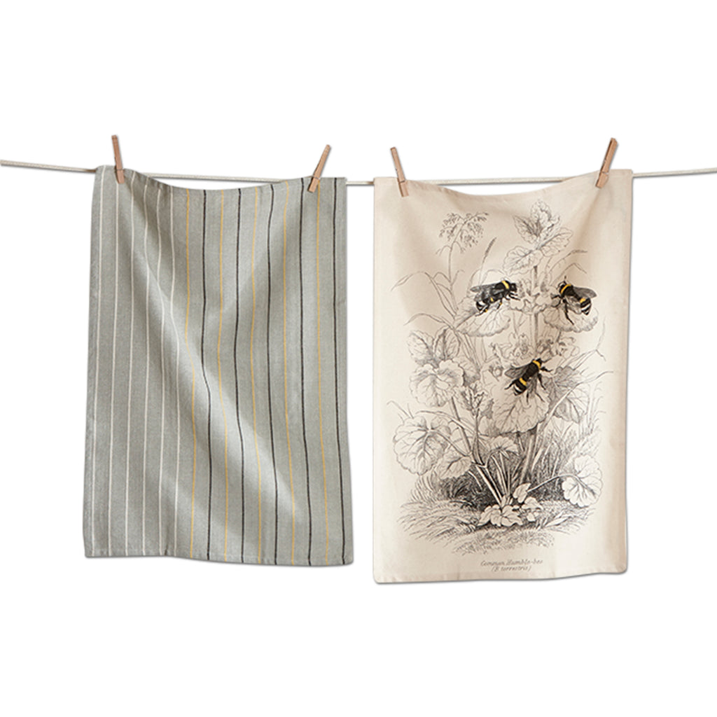 Honey Bee Archival Dishtowel Set