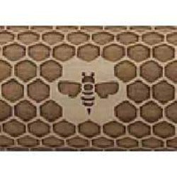 "10"" Embossing Rolling Pin Honeycomb"