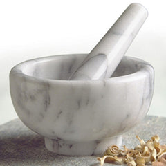 White Marble Mortar and Pestle