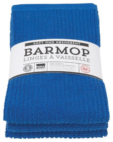 Royal Blue Barmop Towels - Set of 3