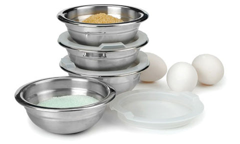 Stainless Steel Prep Bowls with Lids - Set of 4