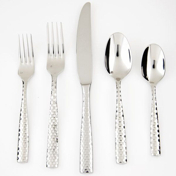 Lucca Faceted 5 Piece Place Setting