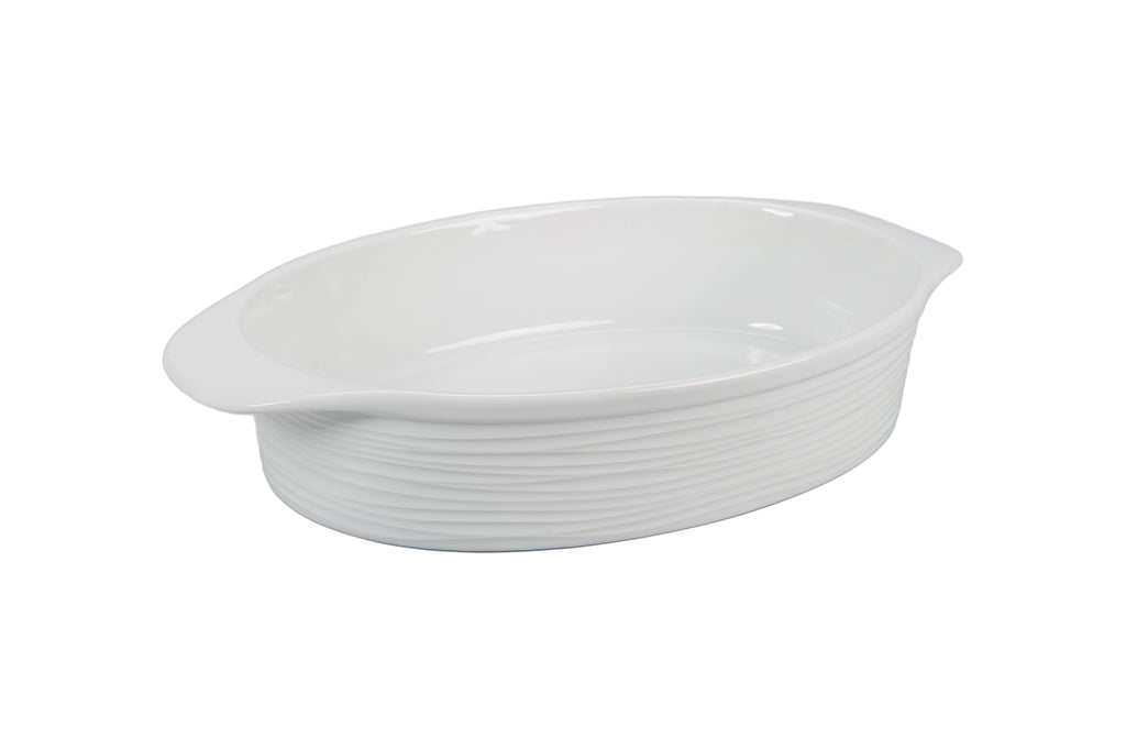 Textured Oval Baker with Handles