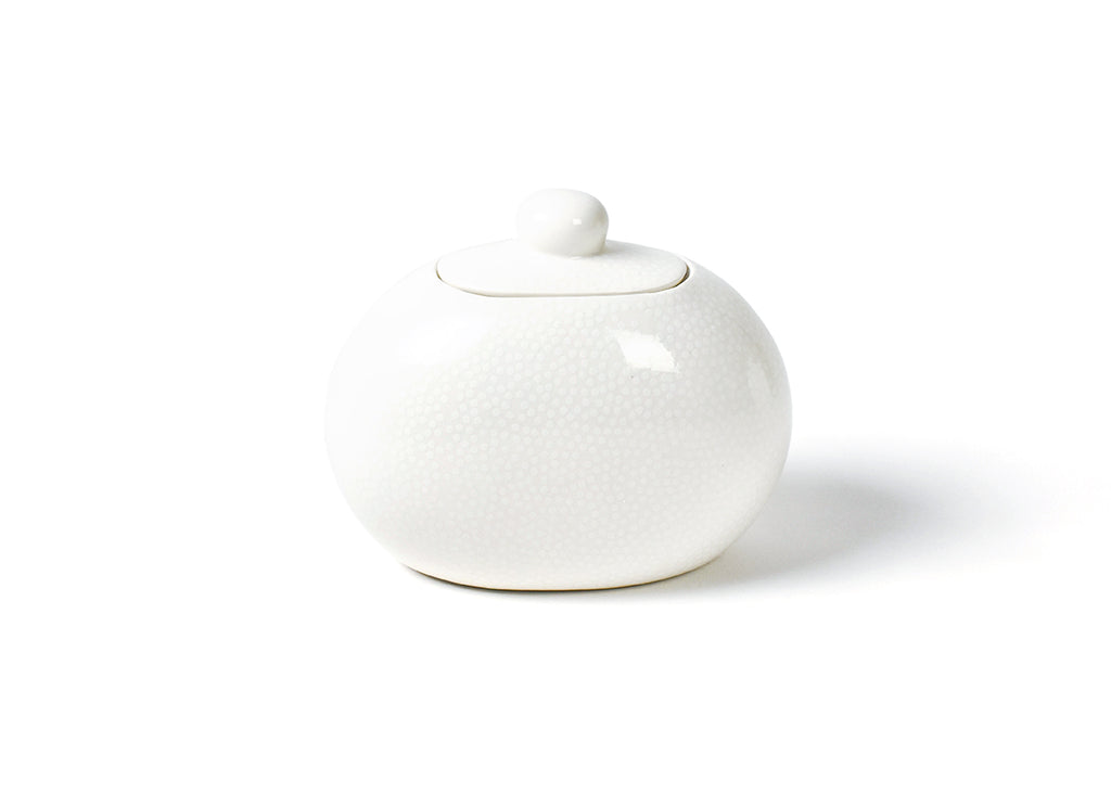 Happy Everything White Small Dot Mini Cookie Jar