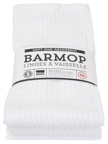 White Barmop Towels - Set of 3