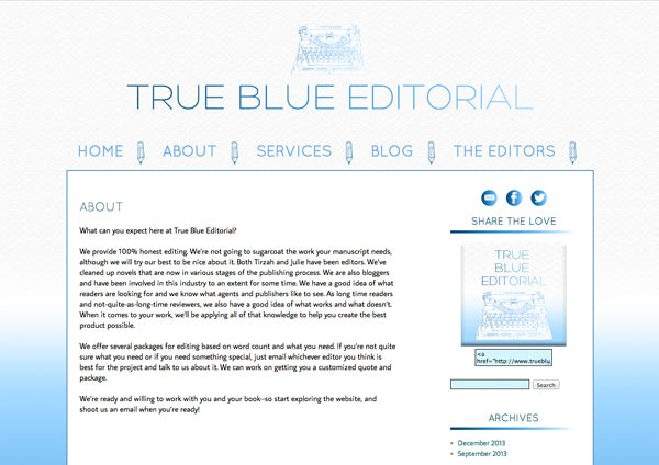 True Blue Editorial