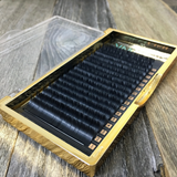 NIKKILASH BADASS FLAT LASHES | C-CURL FLAT LASHES with 16-Rows Rich True Black Color