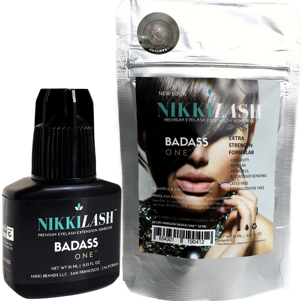 NIKKILASH BADASS ONE ADHESIVE - Extra Strength Formula - Strongest Bonding Glue