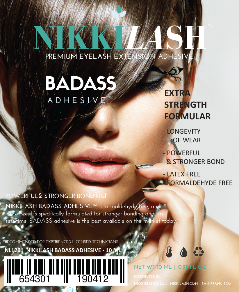 NIKKILASH Eyelash Extension Strong Bonding Glue Adhesive - NIKKILASH BADASS ADHESIVE™ EXTRA STRENGTH FORMULA - Powerful & Strongest Bonding. It's Latex-Free, Formaldehyde-Free - NikkiLash.com - 12