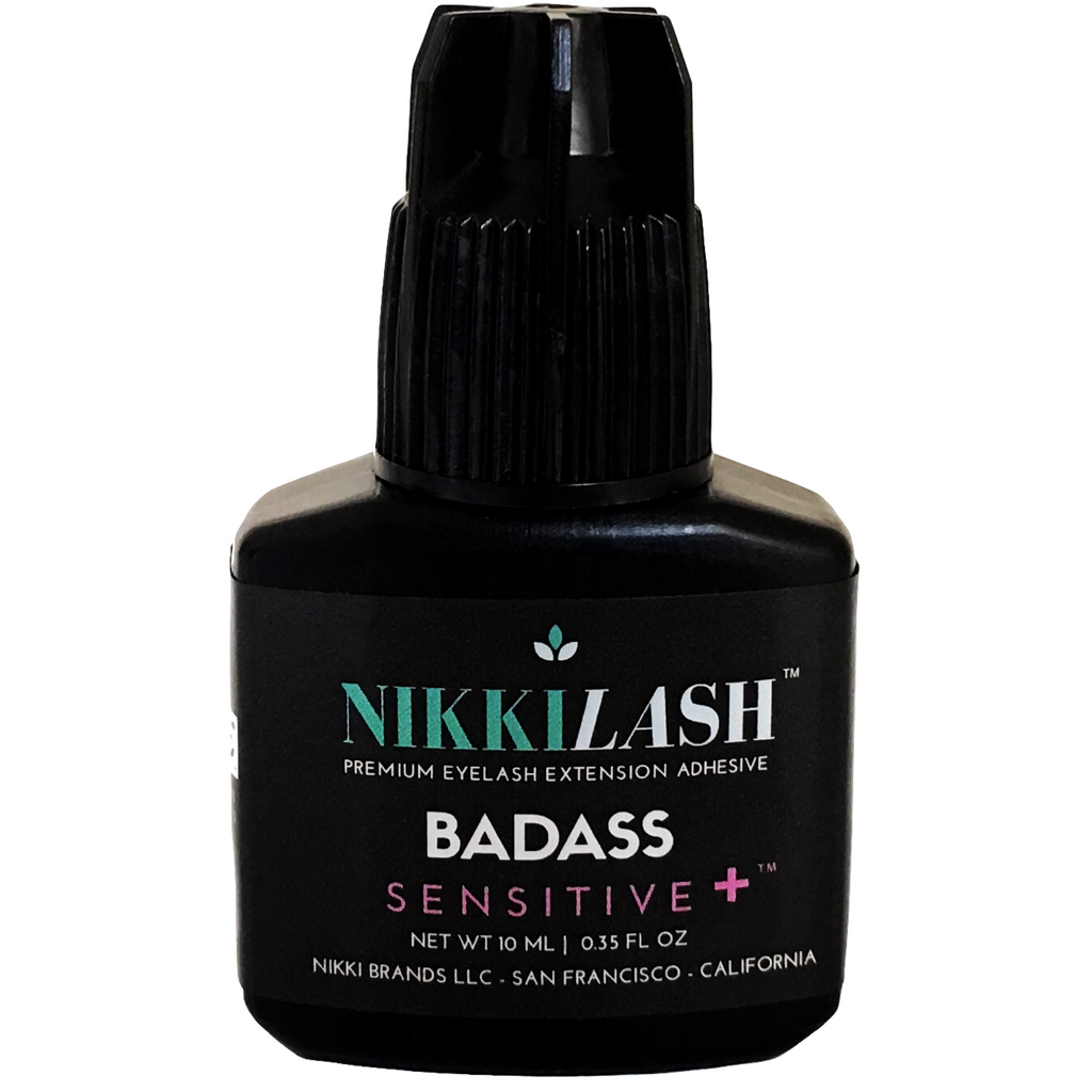 NIKKILASH BADASS SENSITIVE+ Eyelash Extension Adhesive Glue Has No-Fume No-Odor and Non-Irritating