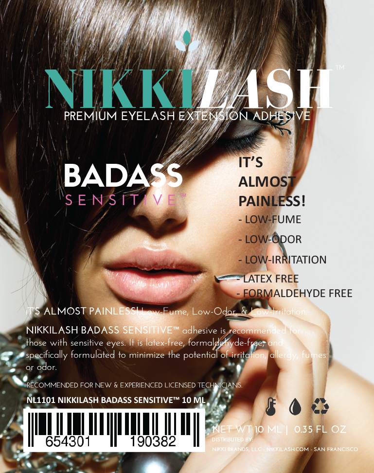 NIKKILASH BADASS SENSITIVE™ Eyelash Extension Adhesive Has Low-Fume, Low-Odor, and Low-Irritating Glue. It's LATEX-FREE and FORMALDEHYDE-FREE - NikkiLash.com - 4