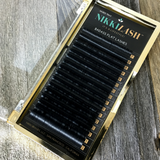 NIKKILASH BADASS MIXED TRAY D-CURL FLAT LASHES 7-13MM | FLAT LASHES with 16-Rows Rich True Black