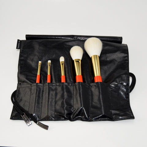 Vermillion Handled Brush 5 pcs Set  - US