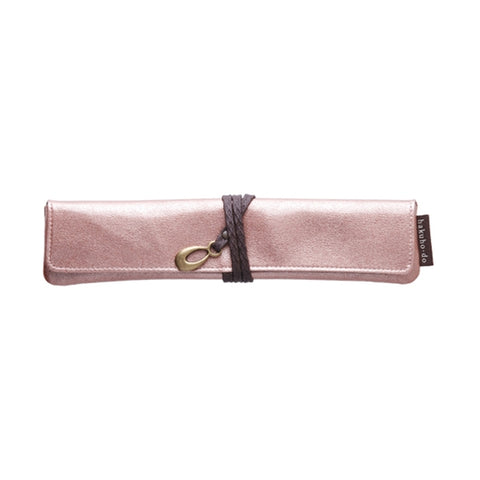 Po800Pb Enameled Single Portable Case - Pink Beige [H3461]