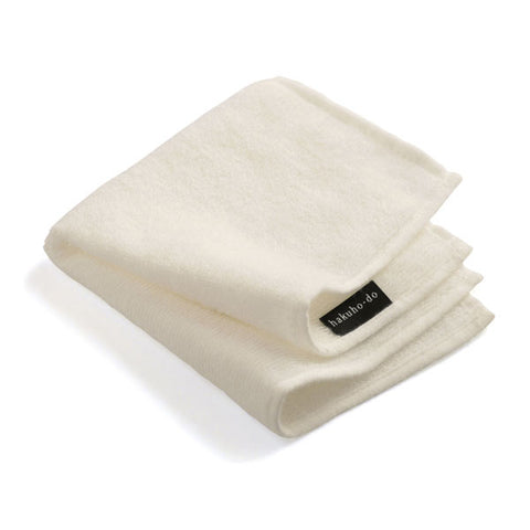 Hakuhodo Brush Cleaning Cloth [White & Beige]