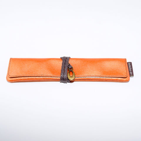 Po800Ov Enameled Single Portable Case - Orange Vermilion [H3767]