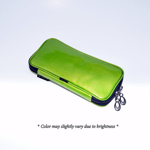 Po810Ag Enamel brush pouch - Apple Green [H3477]