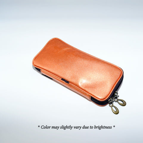 Po810Ov Enamel brush pouch - Orange Vermilion [H3768]