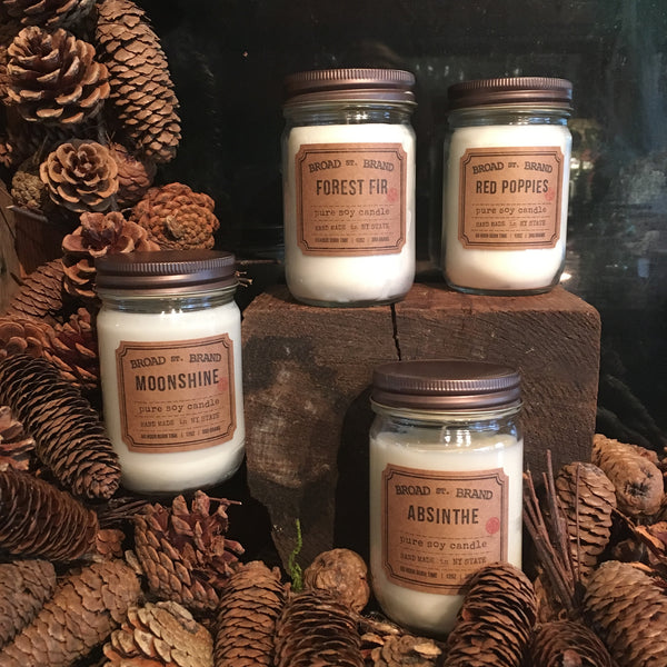 Roses by the Dozen with Artisanal Candle