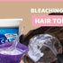 How to bleach knots on your hair topper