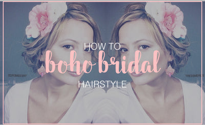 Simple Boho Bridal Hairstyle