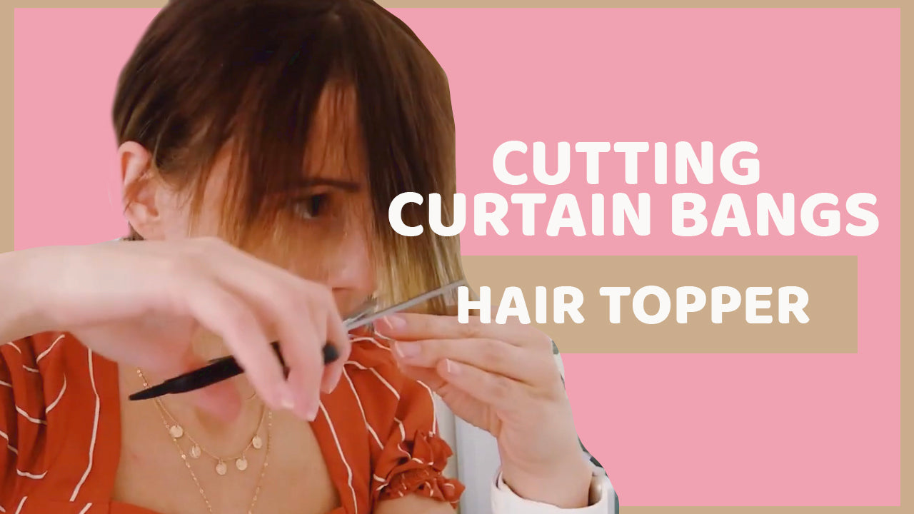 How To Cut Curtain Bangs At Home Hair Topper
