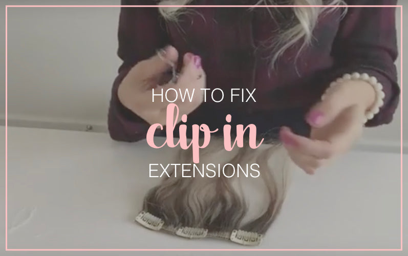 How To Fix Clip In Hair Extensions Tressmerize