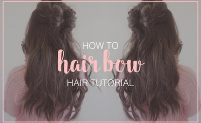 Half Up Half Down Hair Bow Tutorial