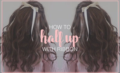 How to Half Up With Ribbon Hair Tutorial