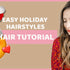 Holiday hairstyles with a Hair Topper  | Tressmerize